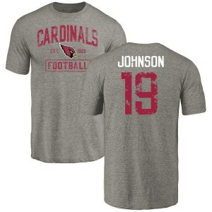 KeeSean Johnson Arizona Cardinals Youth Gray Distressed Name & Number Tri-Blend T-Shirt